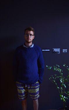 Sweater hand knitted 65% wool, 35% alpaca
