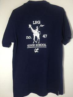 L-R-G Lifted Research Group LRG Mens Polo Shirt Good School Navy M