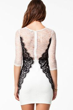 Sexy Lace Decorated O-Neck Mini Bodycon Dress | Stylish Beth