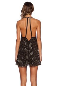 NBD NBD Beaded Envy Dress Black in Black | REVOLVE