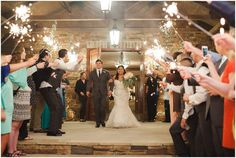 Wedding in March at Brown Stone Centre at Stone Bridge Farms. Sparklers Photographed by: rebeccalongphotography.com
