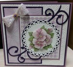 Scrapkaart viooltje
