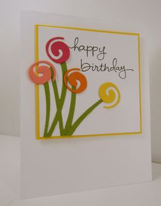 Love the way the small inside flower from Swirly Scribbles looks on this card.  I used the wave to create the stems and the small flowers look like a bouquet.