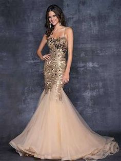 Blush Prom 9527 - Pageant elegance in a sexy prom dress! Swirls of delicate beads drape your silhouette as jeweled stones highlight your bust. #prom