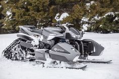 Triazuma Snow mobile by Lazareth. Ok it not quite on wheels, but it starts off as a quad bike! If only we had snow. Snow Vehicles, Hors Route, Snow Gear, Quad Bike, Chenille, Jet Ski, Car Wheels, Winter Fun, Water Crafts