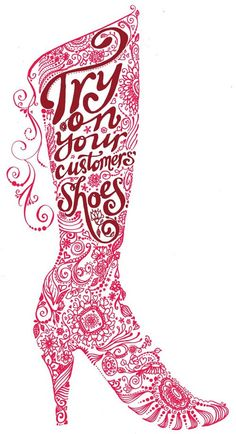 Boot Illustration - very nice custom typography