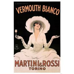 Marcello Dudovich Vermouth Bianco Martini and Rossi Art Print Poster - 24x36 Collections Poster Print, 24x36 | Price:$9.99 & FREE Shipping