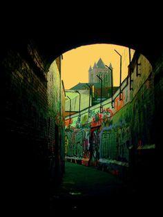 Ghent Graffiti Alley. Belgium.