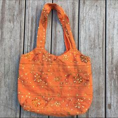 BOHO Orange Handbag Handmade Excellent condition! No rips or stains. Used once. Ships Immediately! Free People Bags Shoulder Bags