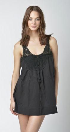 Lisa Curran Swim - Crochet Top in Black