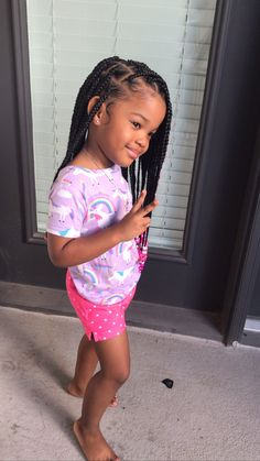 Cute Little Girl Hairstyles, Black Girl Braided Hairstyles, Cute Hairstyles For Kids, Girls Natural Hairstyles, Baby Girl Hairstyles, Black Girl Braids, Braids For Black Hair, Baddie Hairstyles, Braids For Kids