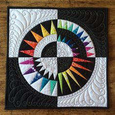 """My second entry for this autumn's Bloggers' Quilt Festival is my variation on a New York Beauty mini quilt. I am entering it into the """" Mi..."""