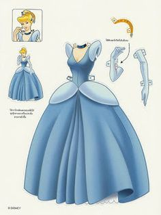 Miss Missy Paper Dolls: Disney Princess Cinderella  Paper dolls