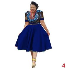 2018 New Plus Size Short Sleeve Summer Dress African Print Dress Dashiki for Women Bazin Riche Vestidos Femme Dress African Fashion Skirts, Plus Size Shorts, Dashiki, African Wear, Clothing Items, Traditional Outfits, I Dress, High Waisted Skirt, Summer Dresses