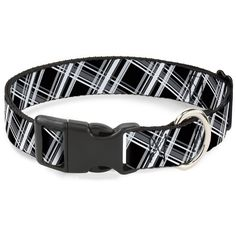 Buckle-Down 13-18' Plaid X2 Black/Grays/White Plastic Clip Collar, Wide Small >>> Check out the image by visiting the link. (This is an affiliate link and I receive a commission for the sales) #PetCats