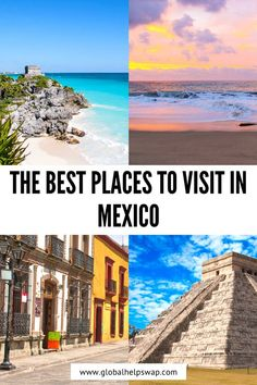 Check out our favourite places to visit in Mexico. Mexico Destinations, Amazing Destinations, Travel Destinations, South America Travel, North America, Central America, Beautiful Places To Visit, Cool Places To Visit, Travel Usa