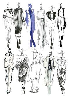 Fashion Sketchbook - fashion sketches; line up; fashion illustrations; fashion portfolio // Mia Jadrna
