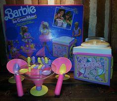 Vintage 1990 Mattel Barbie Ice Cream Maker Shop by UrsMineNours