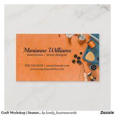 Craft Workshop   Seamstress Business Card