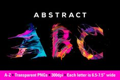 Abstract ABC by Jim LePage on @creativemarket
