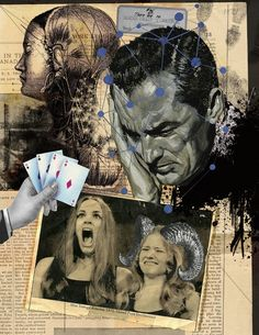 "Saatchi Online Artist: Franz Falckenhaus; Digital, 2012, Assemblage / Collage ""Four Aces"""
