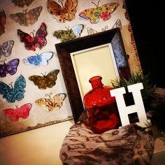 #MandarinaHome #Mandarina #letra #madera #blanco #marco #cuadro #cristal #madera #decoración #regalo #Mariposa #butterfly #foular