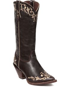 Crush by Durango Womens Chocolate Leather Scroll Stitch Cowboy Boots Sexy Cowgirl, Cowgirl Boots, Riding Boots, Cowboy Chic, On Shoes, Me Too Shoes, Shoe Boots, Nike Shoes, Western Wear