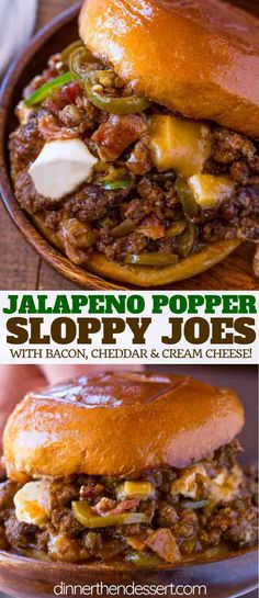 Jalapeno Popper Sloppy Joes are the PERFECT combo of spicy and cheesy just like . Jalapeno Popper Sloppy Joes are the PERFECT combo of spicy and cheesy just like a jalapeno popper, and ready in under 30 minutes! Jalapeno Poppers, Jalapeno Popper Recipes, Meat Recipes, Mexican Food Recipes, Cooking Recipes, Healthy Recipes, Chicken Recipes, Recipes Dinner, Gourmet