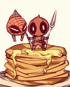 Spiderman and Deadpool; Marvel Comic Universe, Marvel Art, Marvel Dc Comics, Marvel Heroes, Spideypool, Superfamily, Cute Deadpool, Deadpool X Spiderman, Iron Man Capitan America