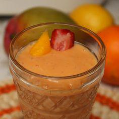 Strawberry Mango Smoothie on http://cooksjoy.com/blog