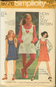 ca4a2cba268 MOMSPatterns Vintage Sewing Patterns - Simplicity 9776 Vintage Sewing  Pattern SWEET How to Sew Scoop Neck