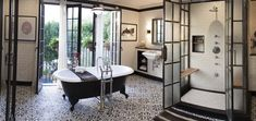 House Beautiful Bathroom of the Month Features Granada Tile's Cluny Cement Tiles