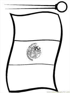 Printable Mexico Flag Coloring Pages For Kids CRA Mexico Ideas