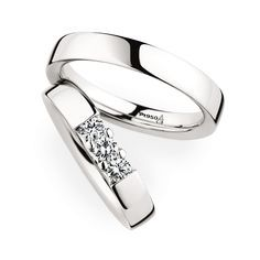 Wedding Rings Christian Bauer Gorgeous Platinum Wedding Bands with Diamonds for Her 280001 / 243608 Platinum Wedding Rings, Diamond Wedding Bands, Custom Wedding Rings, Beautiful Wedding Rings, Couple Rings, Ring Designs, Engagement Rings, Jewelry, Trendy Wedding
