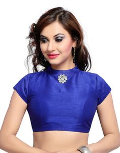 Shop Online for Blue Color Banglori silk Plain Unstiched Blouse Materieals in India at Voonik.com, 5522687 ✓Easy Returns ✓Pan india Shipping ✓Affordable Prices ✓Cash On Delivery