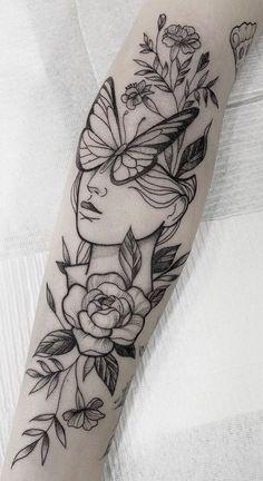 75 Photos of Female Tattoos on the Arm - Pictures and Tattoos ideen arm tattoo feminina - ta Tattoo Men Small, Leg Tattoo Men, Arm Tattoos For Women, Small Tattoos, Tattoos For Guys, Female Arm Tattoos, Tattoos For Females, Guy Arm Tattoos, Female Tattoo Sleeve