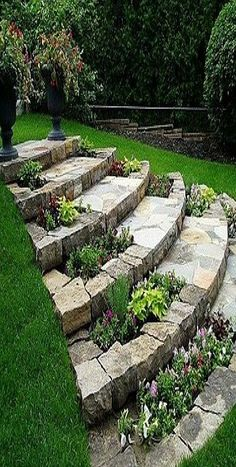 Awesome Sloped Backyard Landscaping Ideas How To Landscape a Sloping Backyard Awesome sloped backyard landscaping ideas. While a house in a hilly area comes with a promise of stunning panoramic vie… Backyard ideas Awesome Sloped Backyard Landscaping Ideas Garden Steps, Diy Garden, Garden Projects, Garden Paths, Dream Garden, Shade Garden, Walkway Garden, Porch Garden, Garden Kids