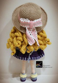 Hello everyone! This is Sunni ~ The Sunshine Girl! Kindly note that this is not a finished product. It is an English Amigurumi crochet downloadable pattern in PDF format. There are altogether 13 pages, with pictures and easy instructions to help you along. The pattern will be available