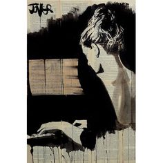 """East Urban Home 'Hey Sonata' by Loui Jover Graphic Art on Wrapped Canvas Size: 18"""" H x 12"""" W x 1.5"""" D"""