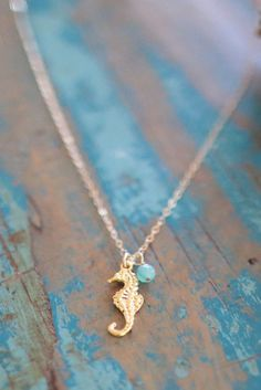 Seahorse necklace cute for summer