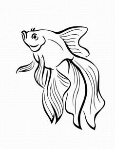 tropical fish outlines - Google Search