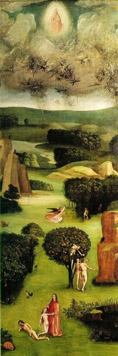 Hieronymus Bosch Last Judgement, left wing of the triptych -