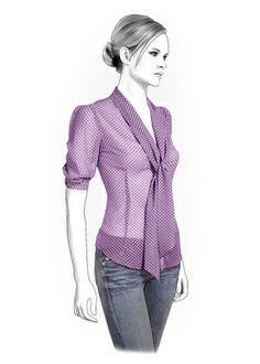 4286 PDF coser patrones para la blusa personalizado por TipTopFit