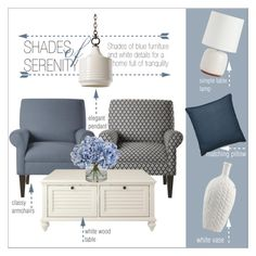 """""""Shades of serenity"""" by taniadeseptembre ❤ liked on Polyvore featuring interior, interiors, interior design, home, home decor, interior decorating, Home Decorators Collection, Arteriors, Sherry Kline and Barbara Cosgrove"""