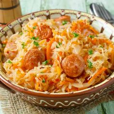 slow cooked german sauerkraut with sausage more pork sausage slow ...