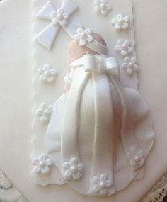Christening Cake Topper-EDIBLE SUGAR ART