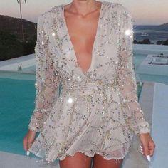 Sparkling Sequins Chiffon Women Party Dress | Daisy Dress for Less | Women's Dresses & Accessories