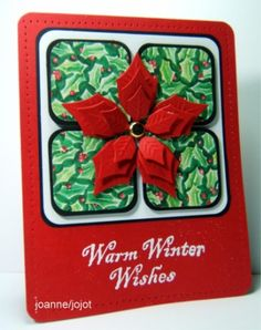 Poinsettia jhg 8_25 by jojot - Cards and Paper Crafts at Splitcoaststampers