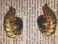 Sale Vintage Trifari Amber Topaz Rhinestones Goldtone Earrings by ArtsyMysticDesigns on Etsy Rhinestones, Topaz, Amber, Gemstone Rings, My Etsy Shop, Earrings, Stuff To Buy, Vintage, Jewelry