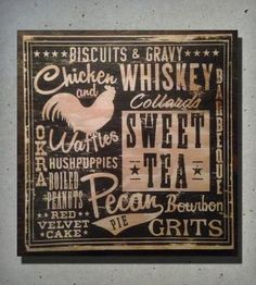 Southern Cuisine Wood Sign